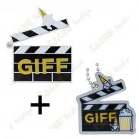 """Geocoin """"GIFF"""" 2021 + Travel Tag"""