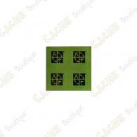 Mini stickers ronds Groundspeak verts - Lot de 4