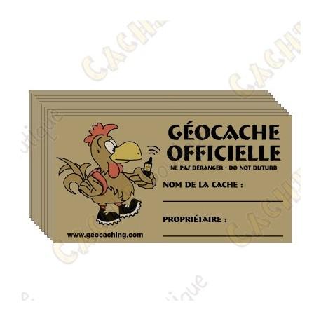 Stickers pour caches 100% francophone x 10