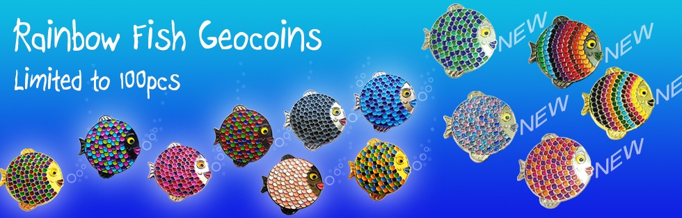 Rainbow Fish Geocoins